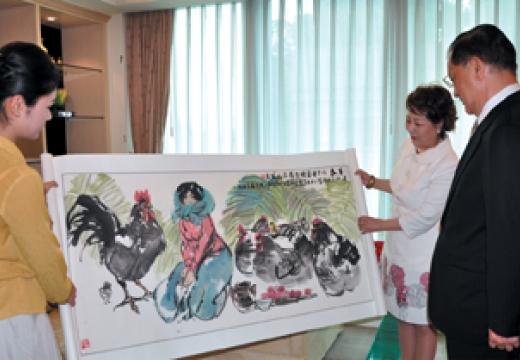 台湾国民党名誉主席连战先生收藏刘筱元作品