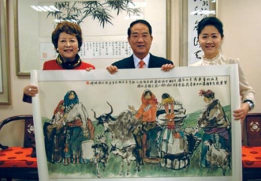 台湾亲民党主席宋楚瑜先生收藏刘筱元作品