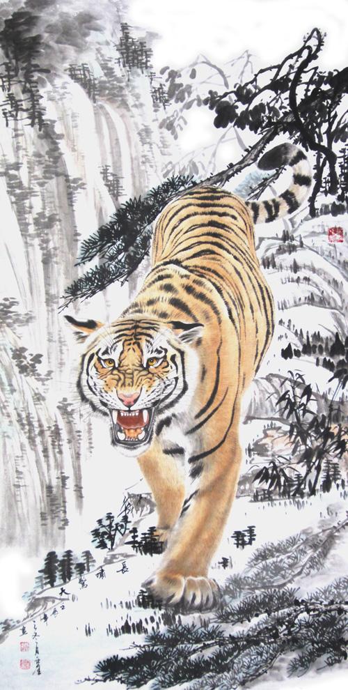 时亚奎虎画作品展将在久留米美术馆举行