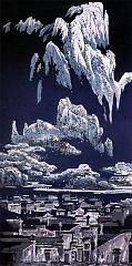 黄山  月光流水