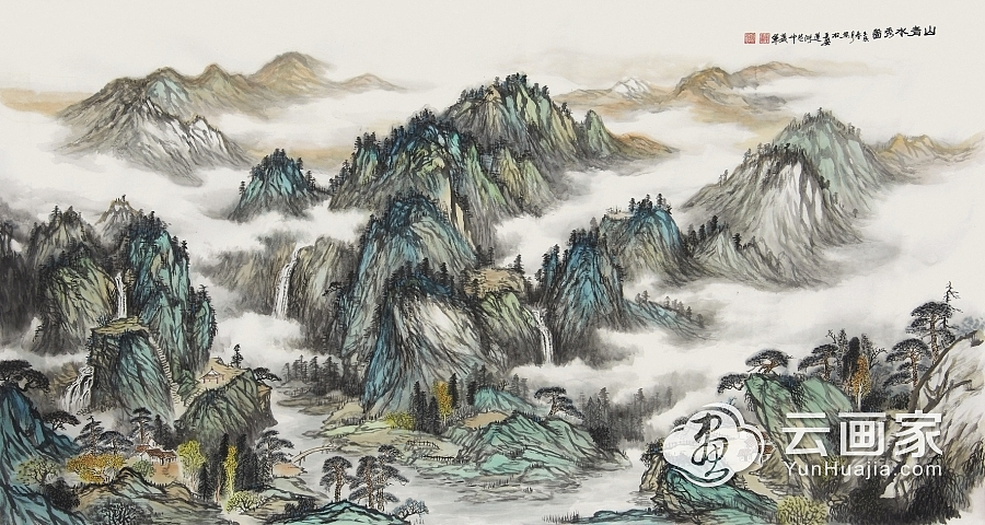 山青水秀图