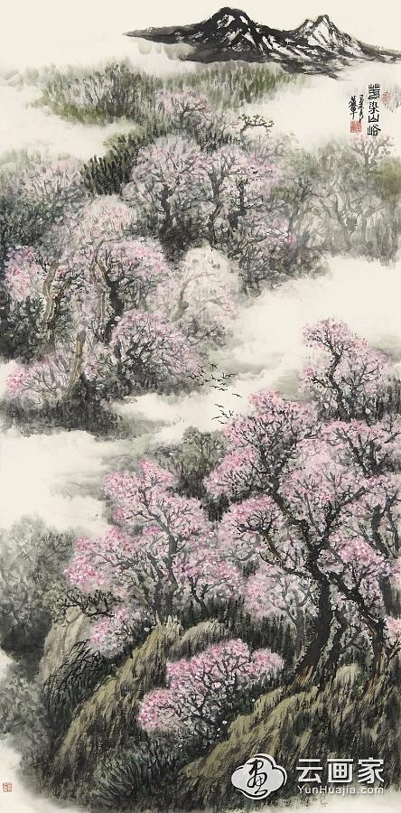 春染山峪图