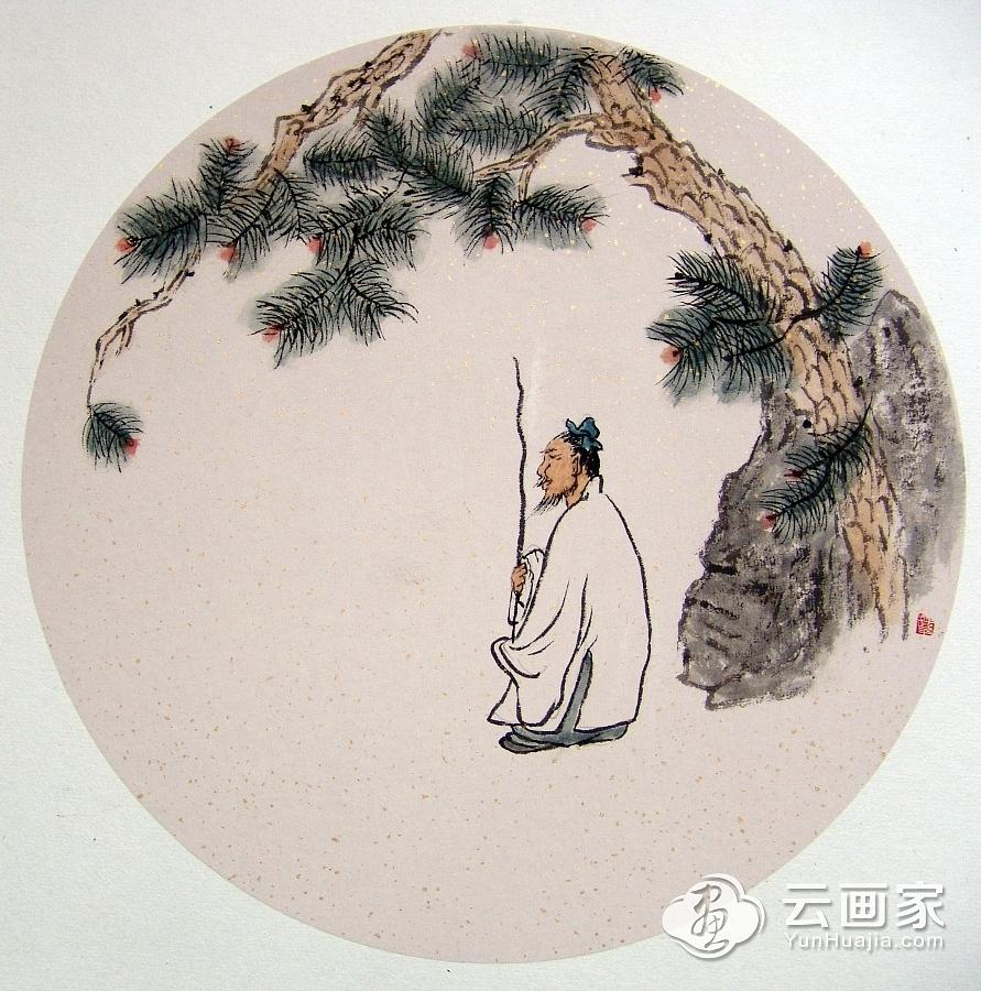 高士图@张继平