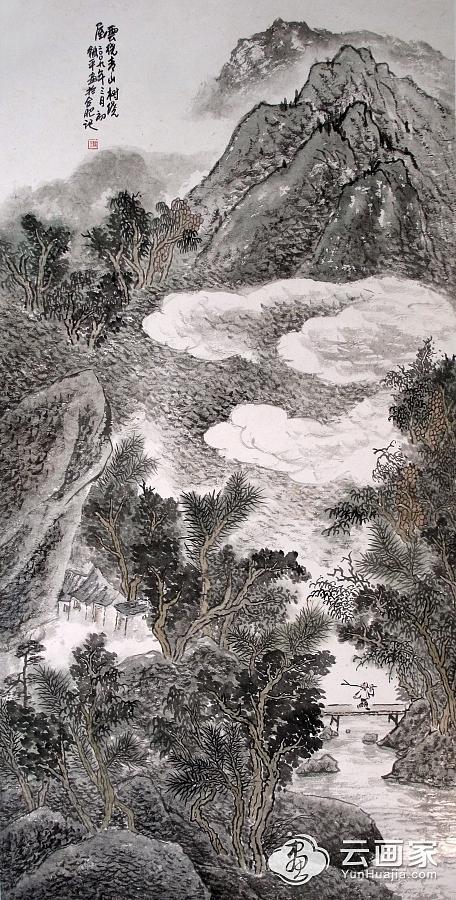 云绕青山树绕屋