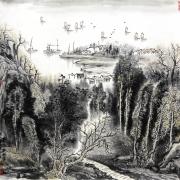湖山秋色图