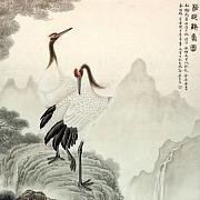 松龄鹤寿图