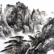 黄山松泉@张士卿