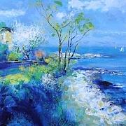 有树的海景@程小菊