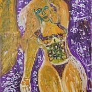 紫床单和女子