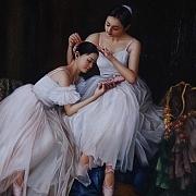 舞蹈者的休息瞬間(臨摹)