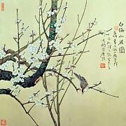 白梅山雀图
