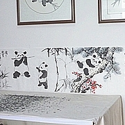 26米长卷熊猫诗意画《传播正能量实现中国梦》寻觅知音收藏!