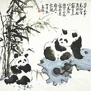 巴蜀熊猫诗意画派创始人高瑞作品@高瑞