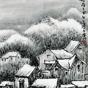 冬雪瑞山春村