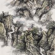 秋山寻泉图