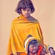 哭泣的印度女孩