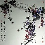 紫艳黄蜂俱有情@杨来华