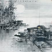 江上渔火映明月@张太和